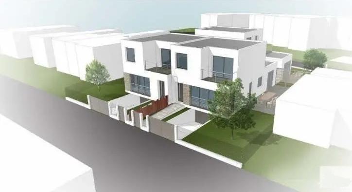 Façade d'une maison neuve à Royan