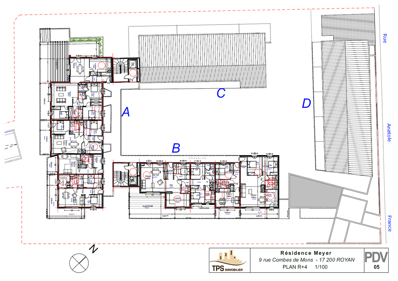 Plan d'ensemble 4ème étage