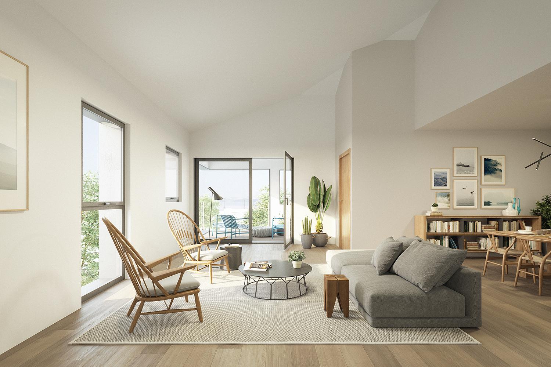 Visuel intérieur d'un appartement 2 pièces