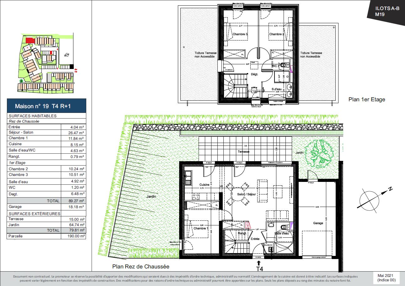 Plan de la Maison 19