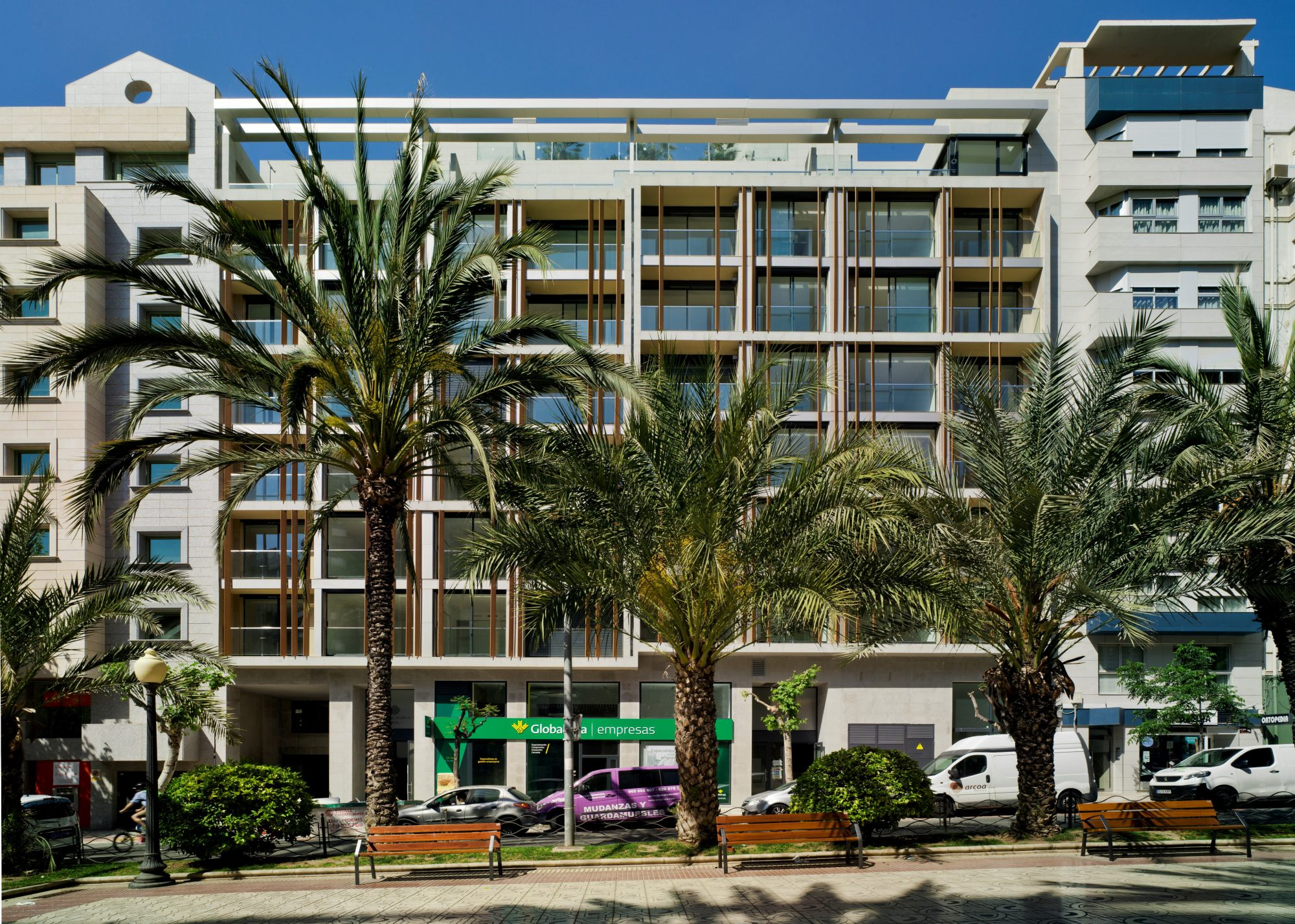 Façade de l'immeuble neuf Alicante Centre