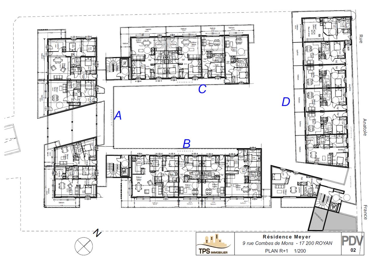 Plan d'ensemble 1er étage