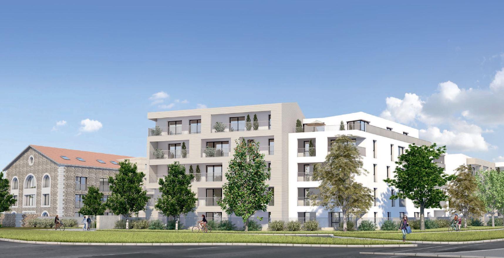 Façade de l'ensemble Immobilier neuf sur La Rochelle