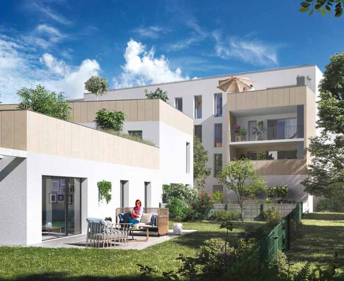 Jardin secret de l'ensemble immobilier neuf à Bordeaux