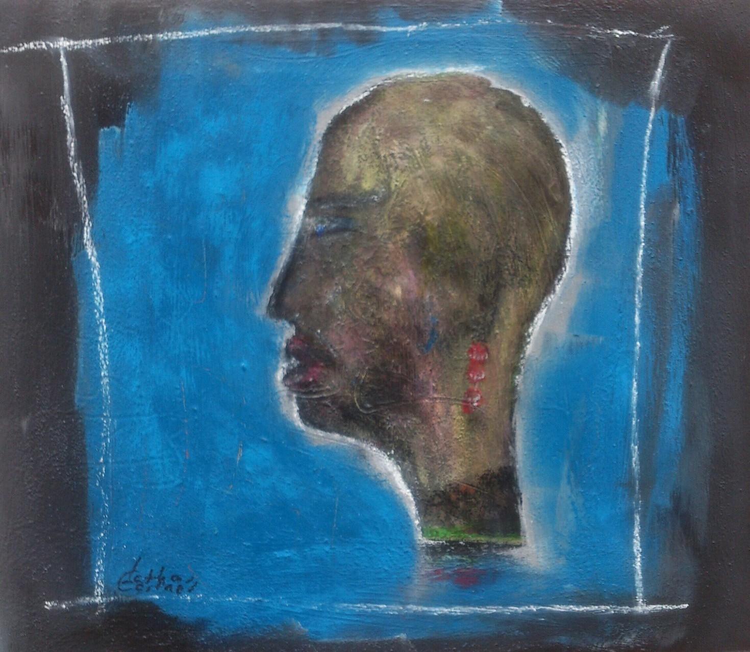 """Transvestit"" Acryl auf Leinwand 50x60 cm"