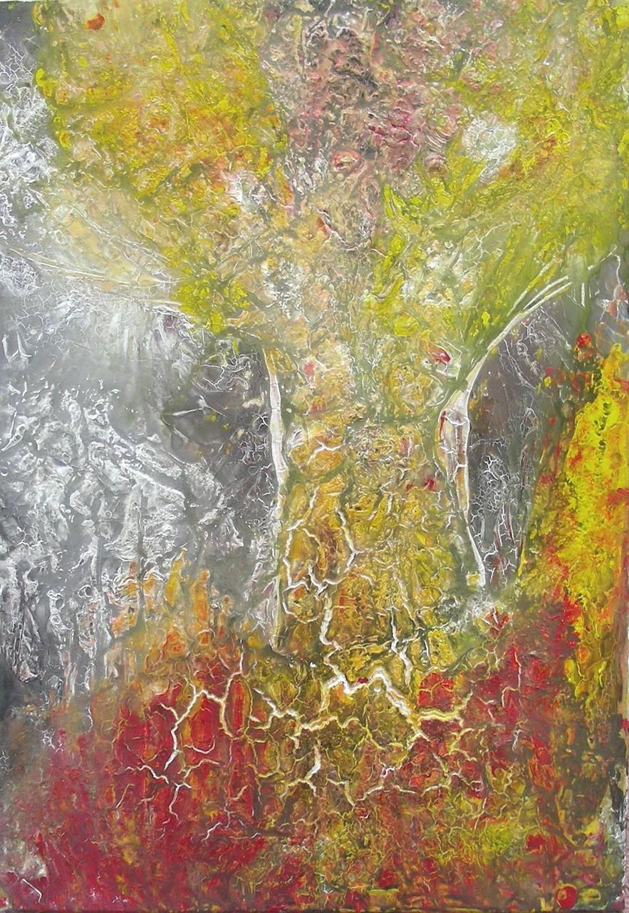"""""""Baum im Sommer"""" Acryl auf Leinwand 70x100x4cm"""