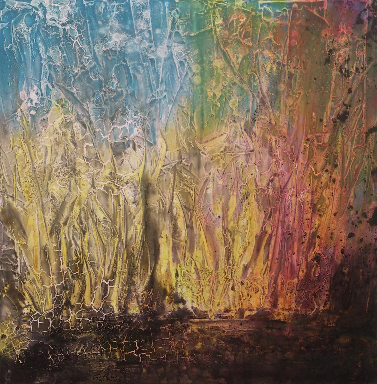 """Landschaft IiI"" Acryl auf Leinwand 100x100x4cm"