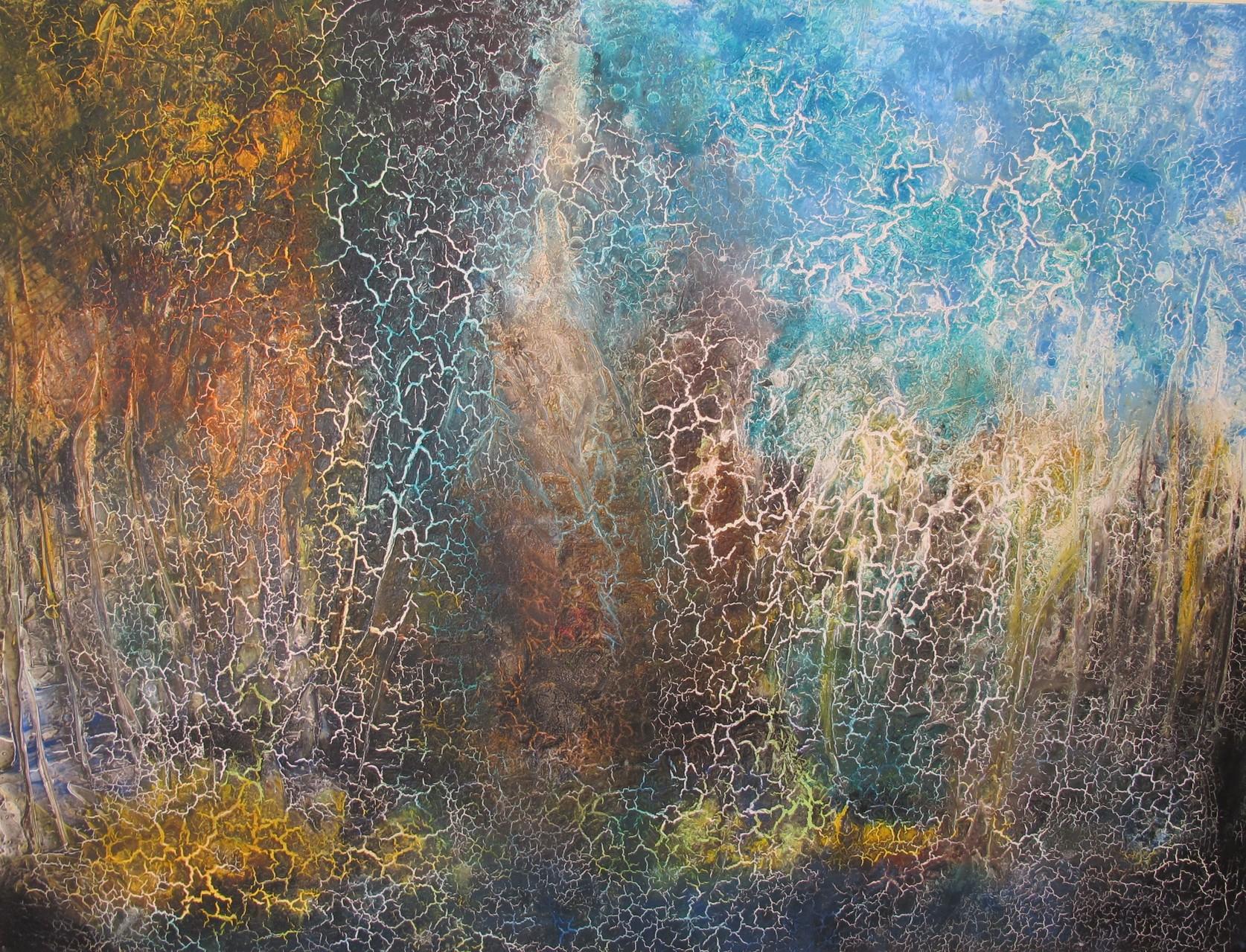 """Landschaft"" Acryl auf Leinwand 120x160 cm"