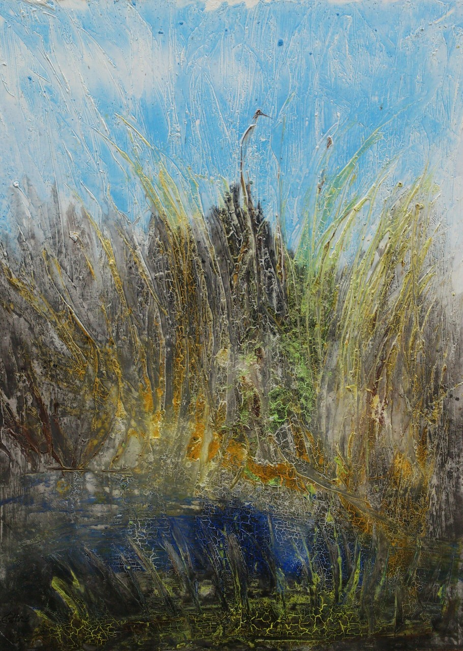 """Landschaft"" Acryl auf Leinwand 160x120cm"