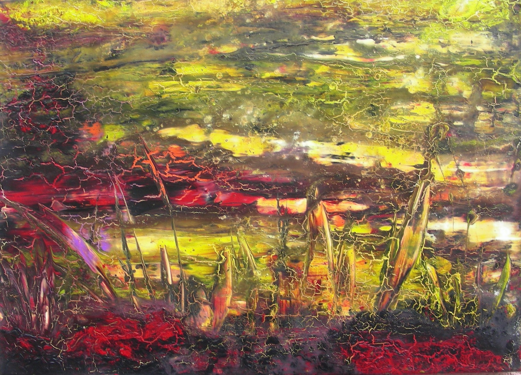 """Landschaft VII"" Acryl auf Leinwand 50x70x4cm"