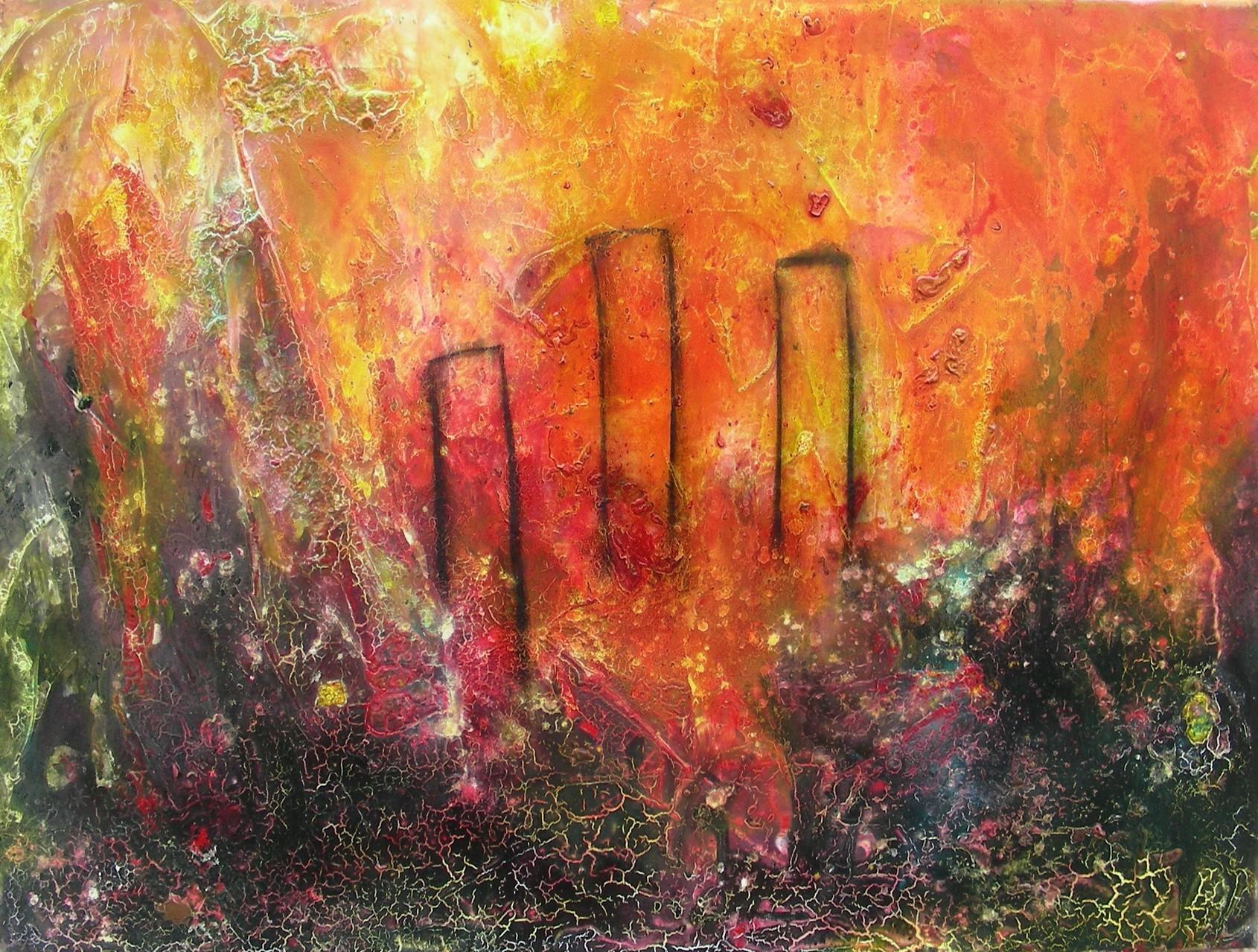 """Die drei Säulen"" III""  Acryl auf Leinwand 60x80x4cm"