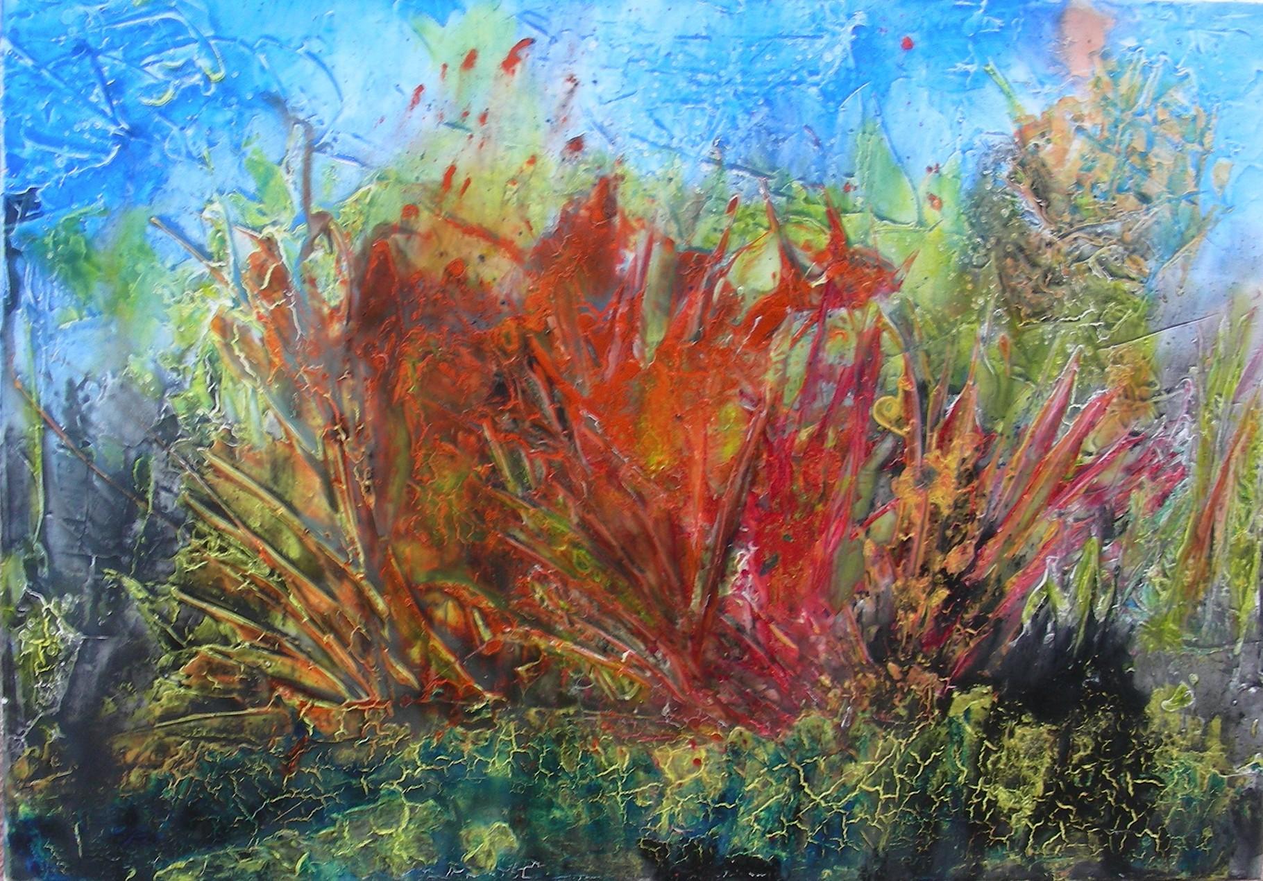 """Landschaft II"" Acryl auf Leinwand 70x100x4cm"