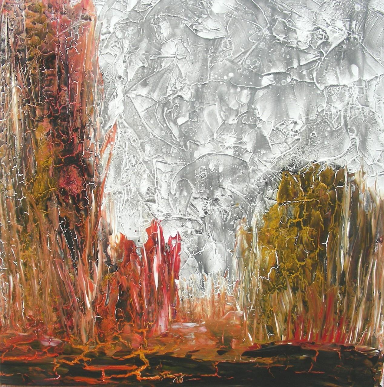 """Lichtung II"" Acryl auf Leinwand 90x90xx4cm"