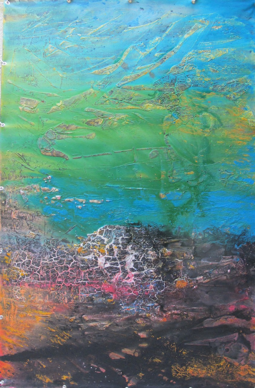 """Irgendwo"" Acryl auf Leinwand 150x100 cm , mit Rahmung 174x124 cm"