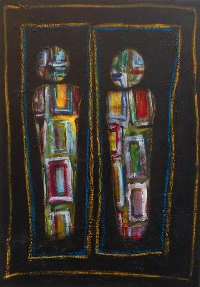 """Fassaden II"""" Acryl auf Leinwand 70x50 / 80x60 cm"""