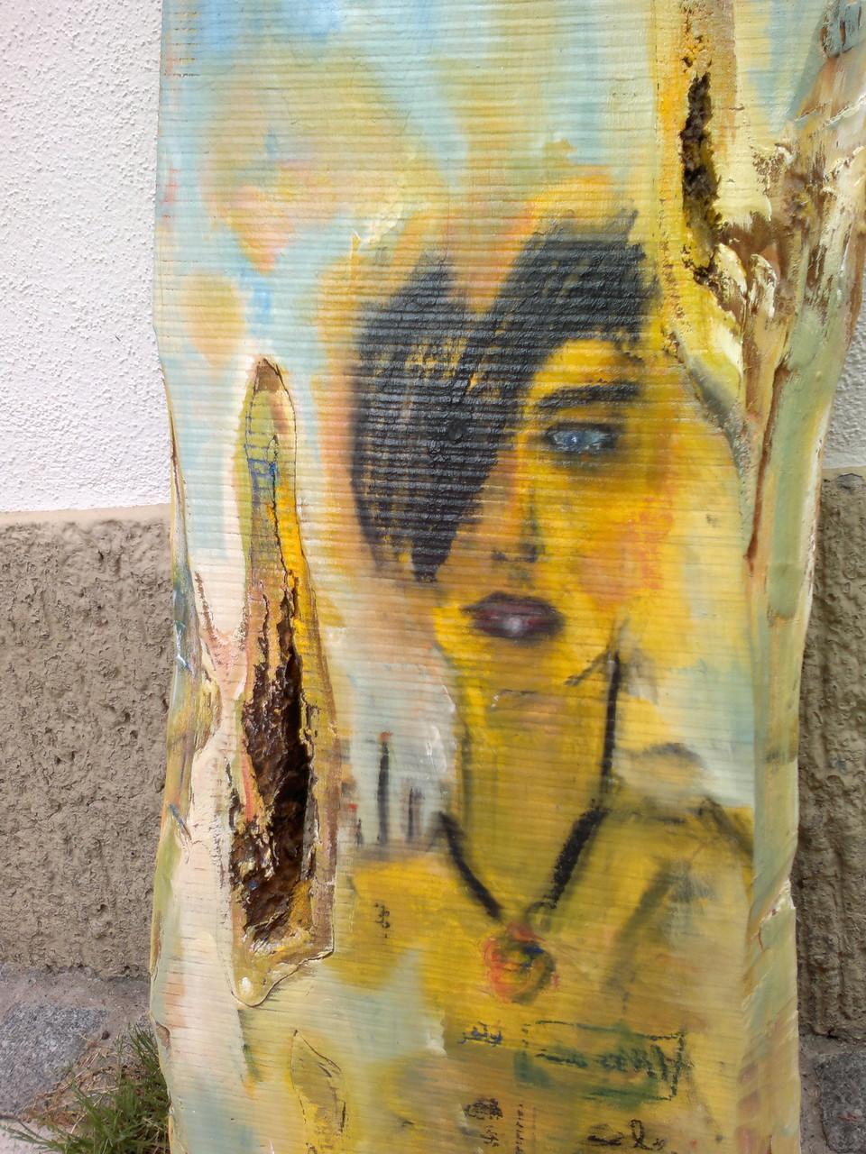 """o.T"" Acryl/Pigment auf Kirschholz 71x42cm"
