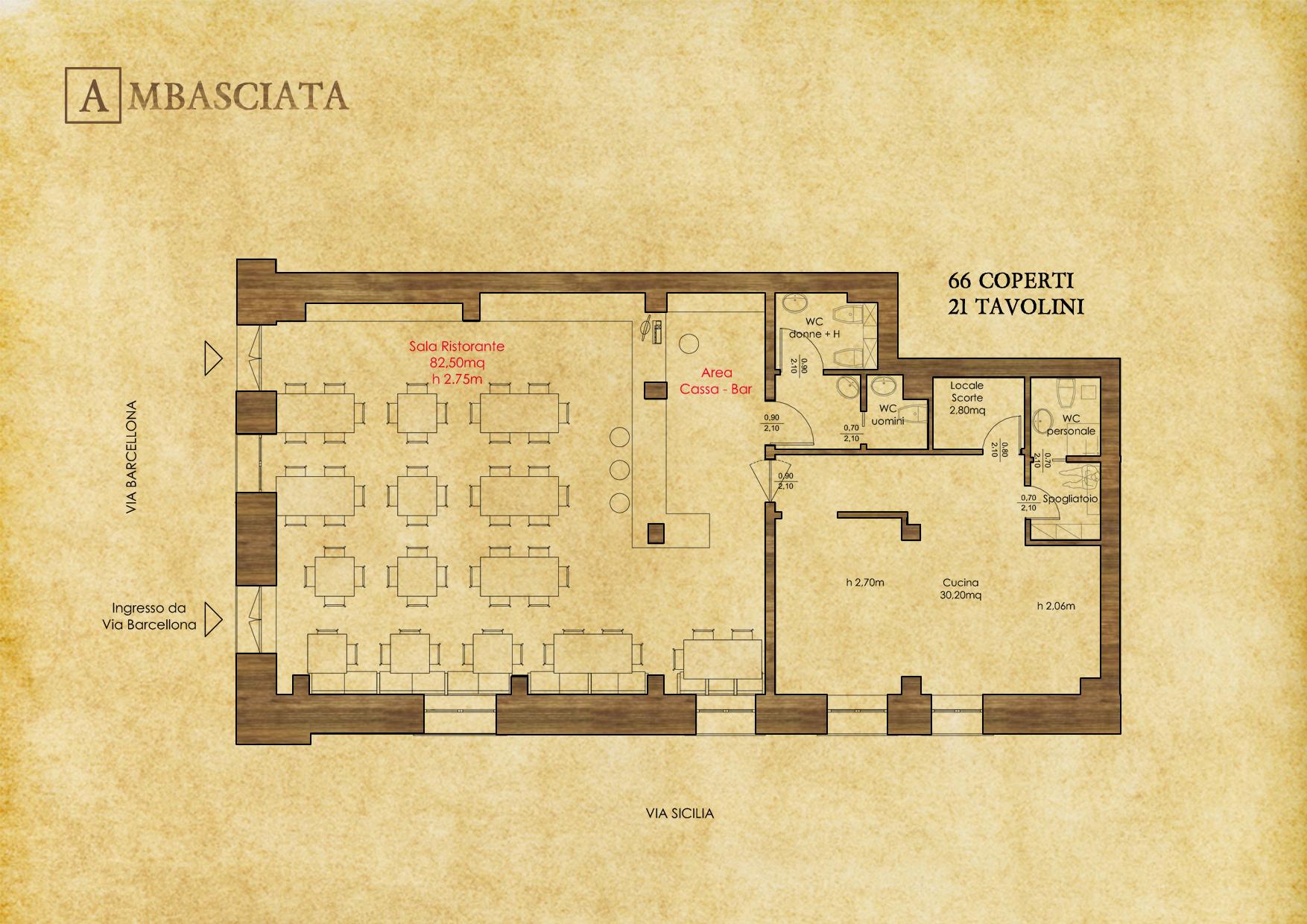 Planimetria Generale - © R. Aleotti, A. Pea, T. Tamborriello