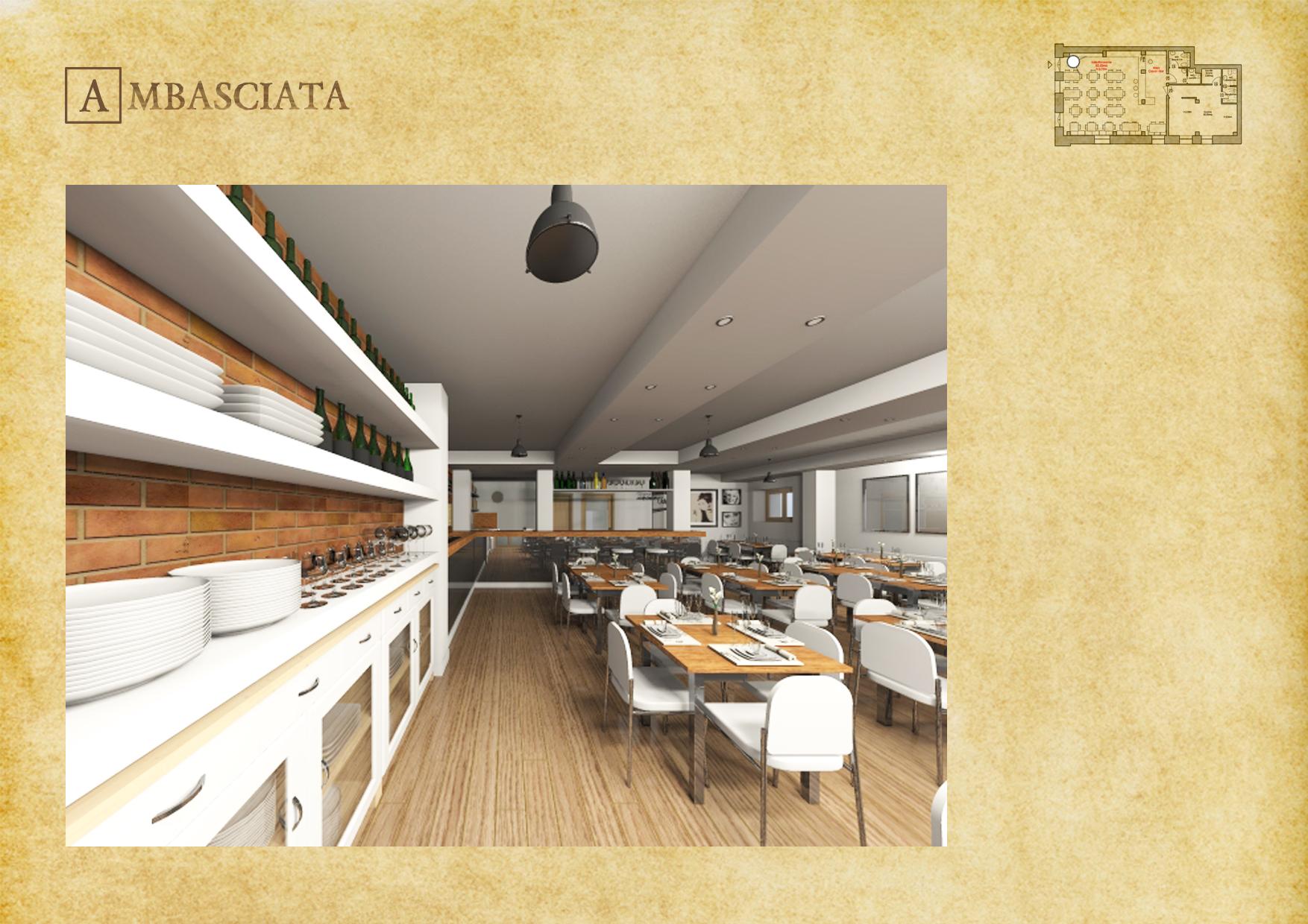 Credenza Restaurant Ambasciata - © R. Aleotti, A. Pea, T. Tamborriello