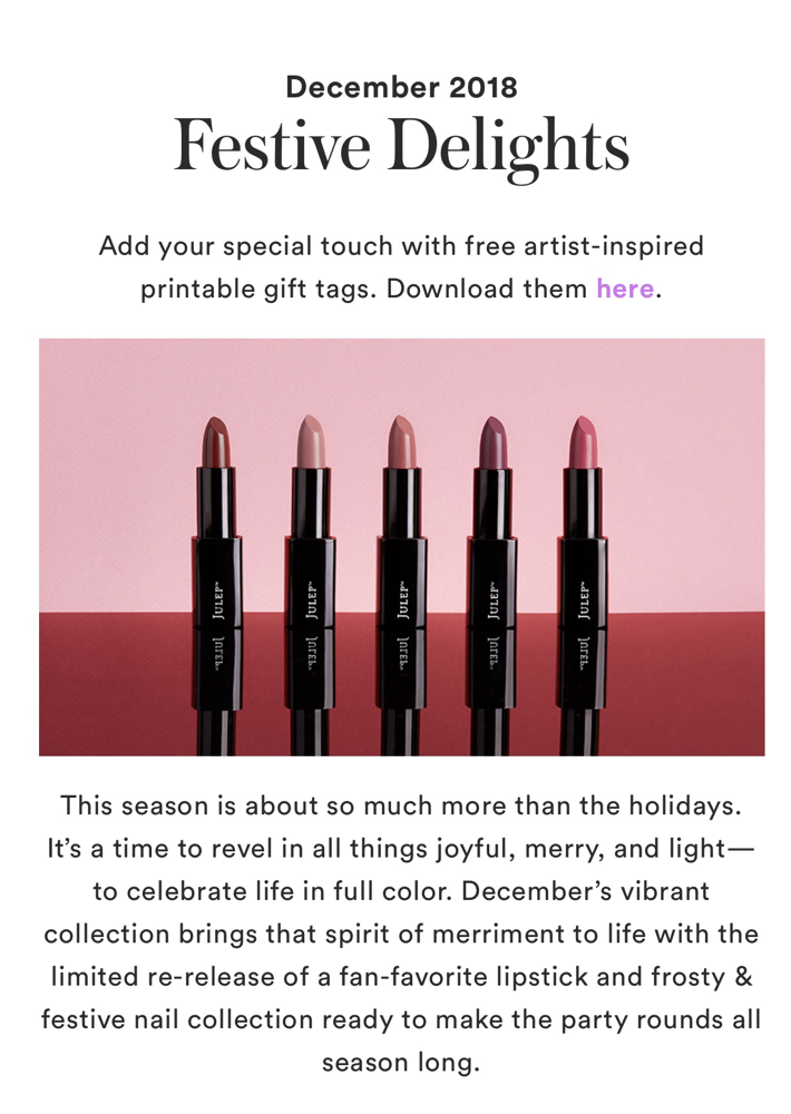 Julep December 2018 collection reveal