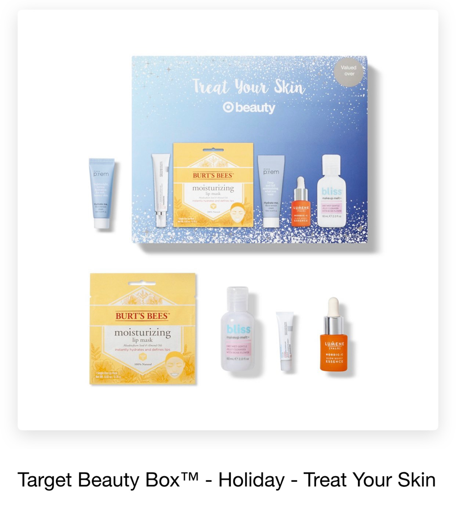 Target Beauty Box Holiday Treat Your Skin