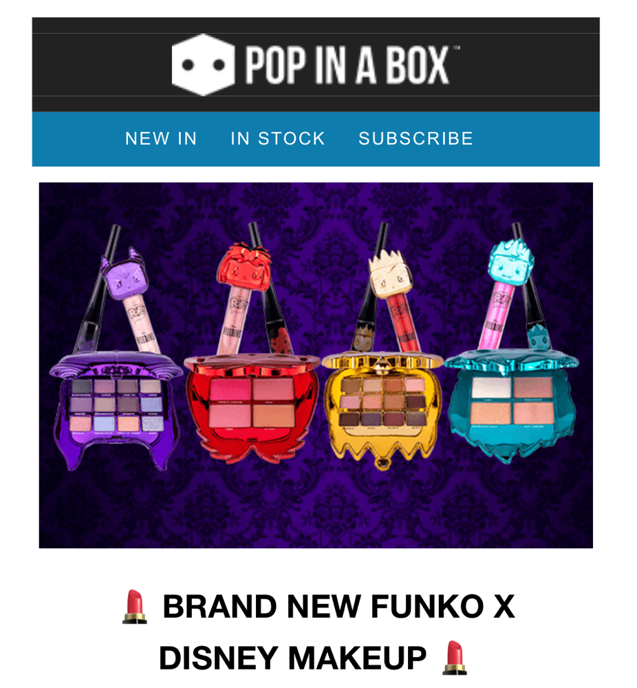 Pop in a box  new funko X Disney makeup