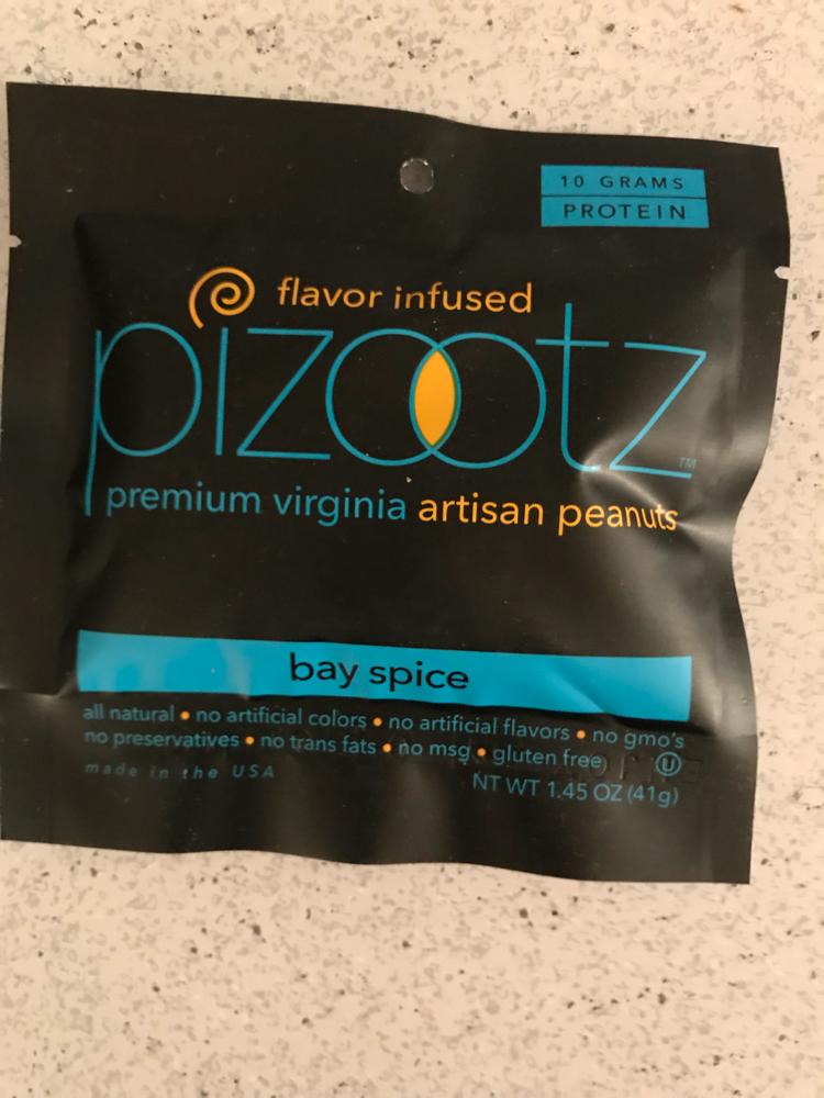 Pizootz flavored infused peanuts bay spice
