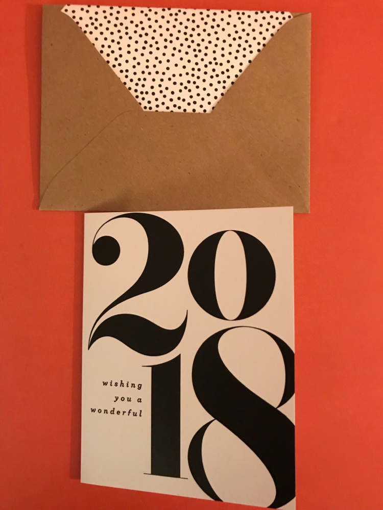 Happy New Year Card Butter Paper Company