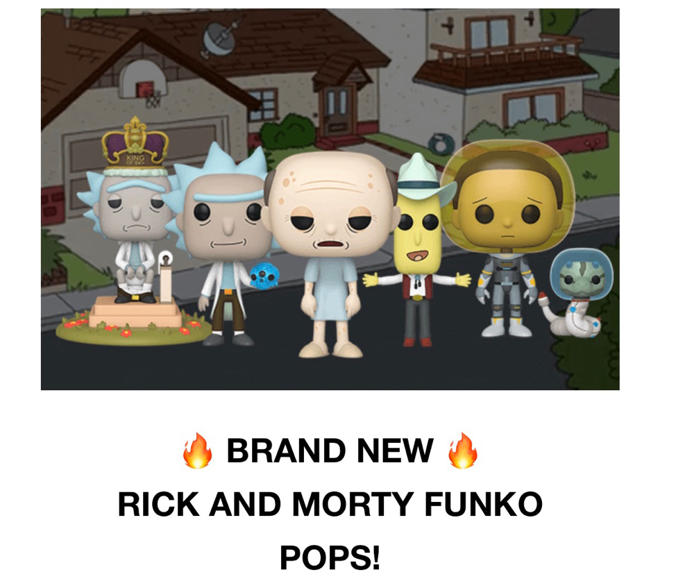 Rick and Marty Funko Pops