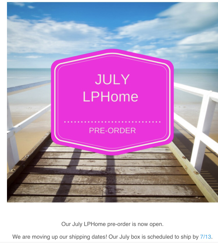 LuxePineapple home July 2018 pre-order