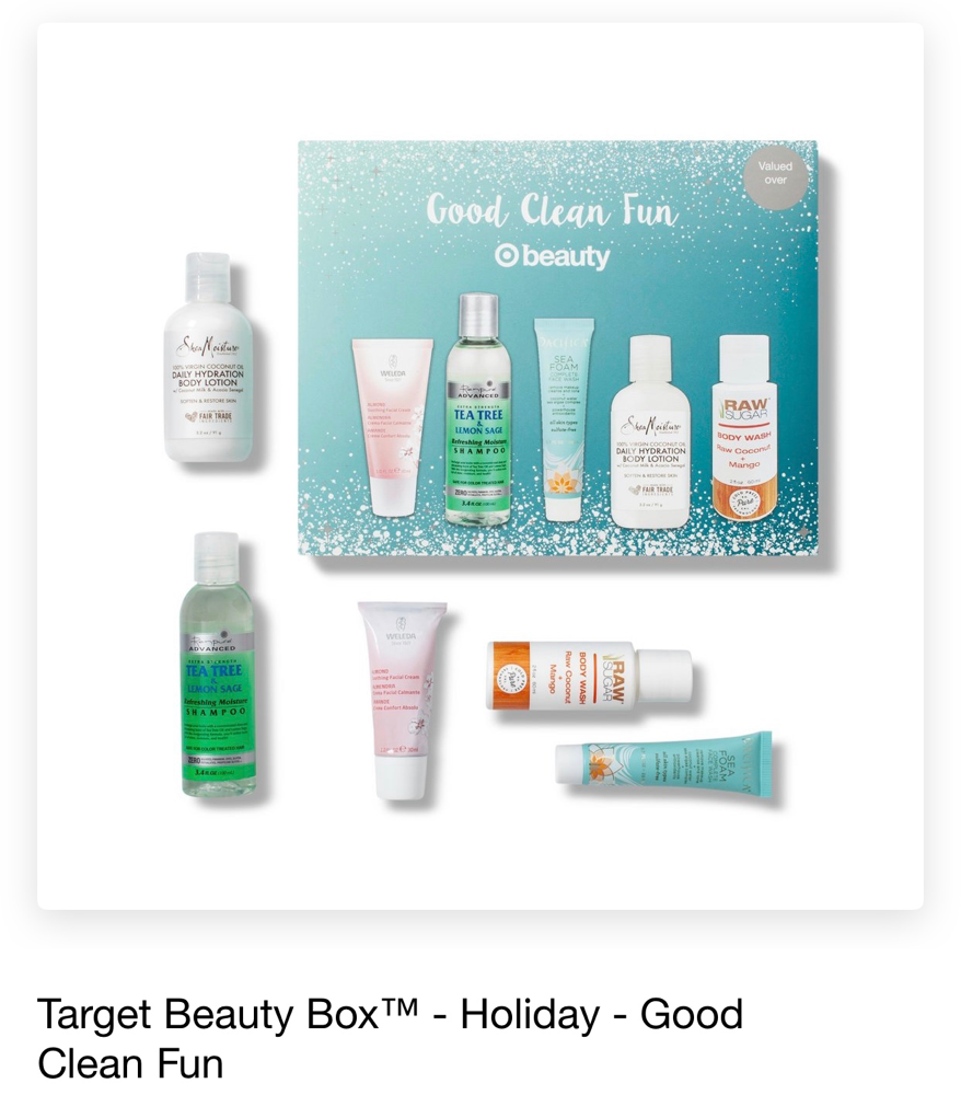 Target Beauty Box - Holiday - Good Clean Fun