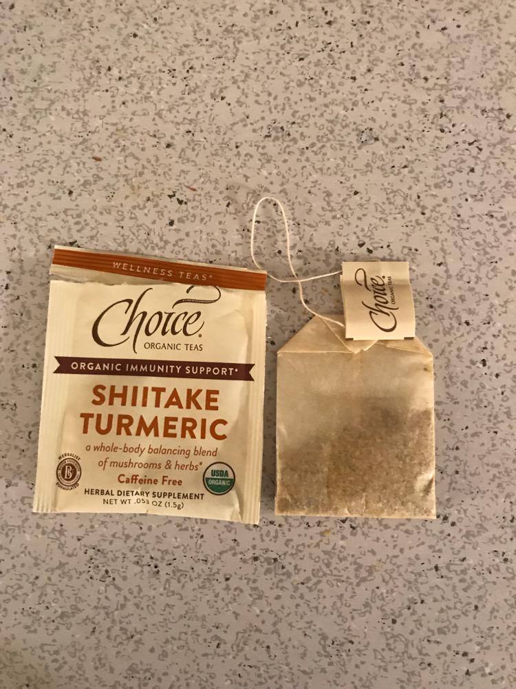 Choice organic teas- Shiitake Turmeric