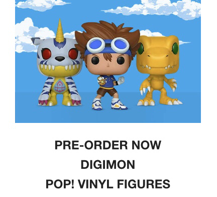Pop In a box pre-order Digimon Pop! Vinyl figures