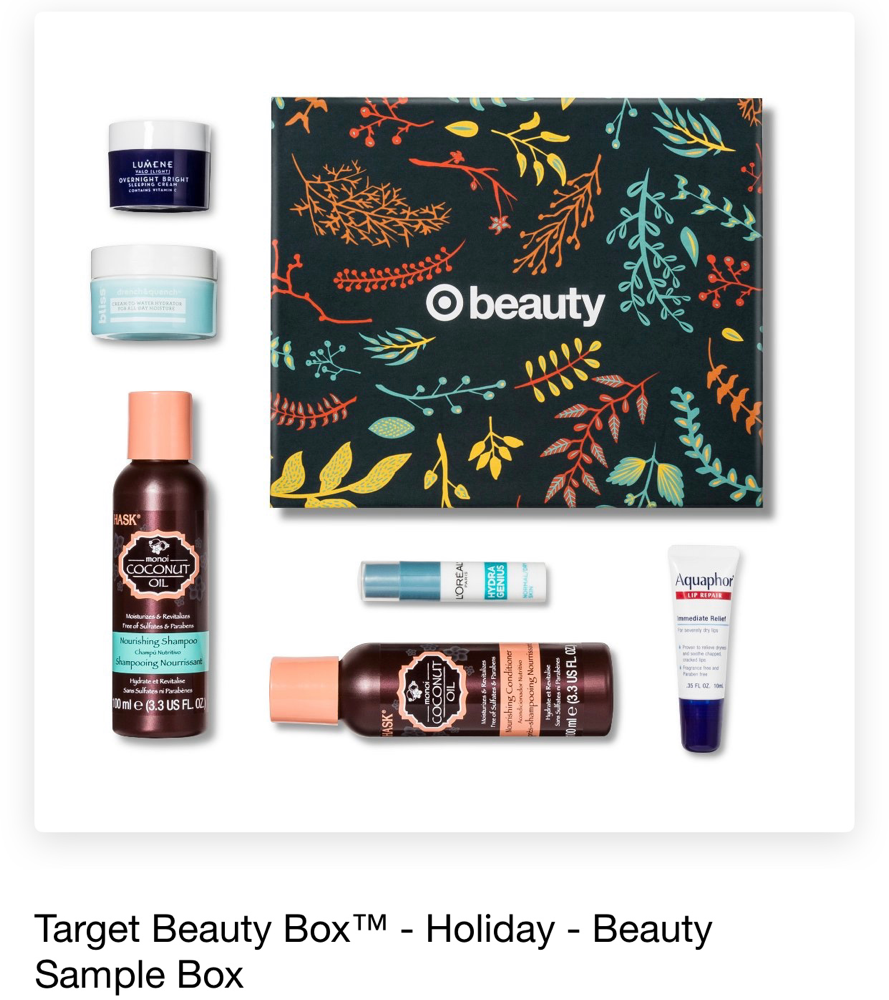 Target Beauty Box Holiday Beauty Sample Box