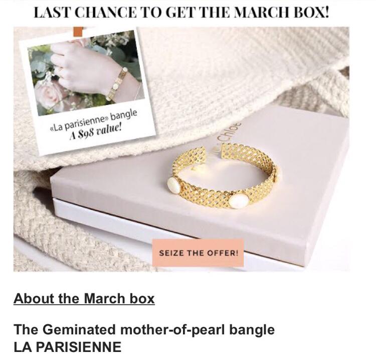 Emma & Chloe March 2018 Subscription Box