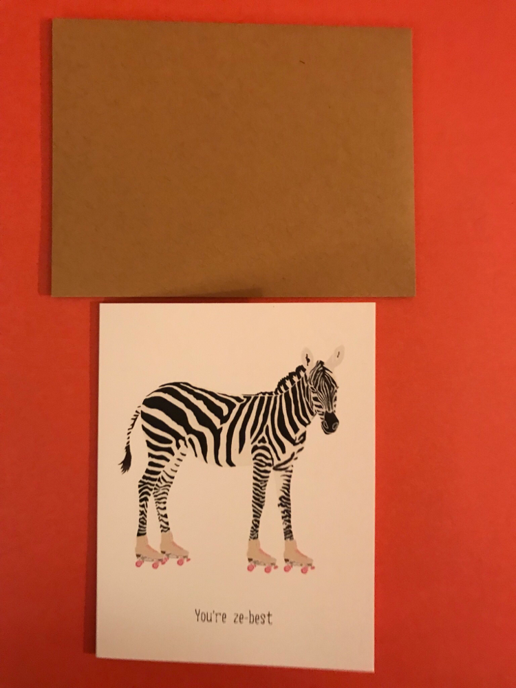 You're Ze-best card by Paper Wolf Design