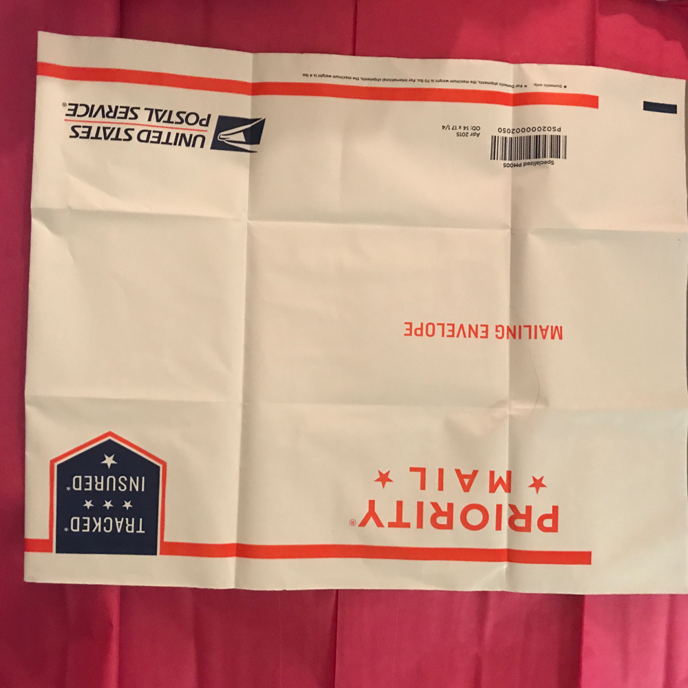 USPS envelope for returning stitch fix, I didn't want my address showing.