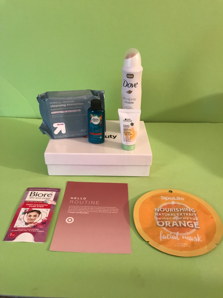 Targets August 2017 beauty box