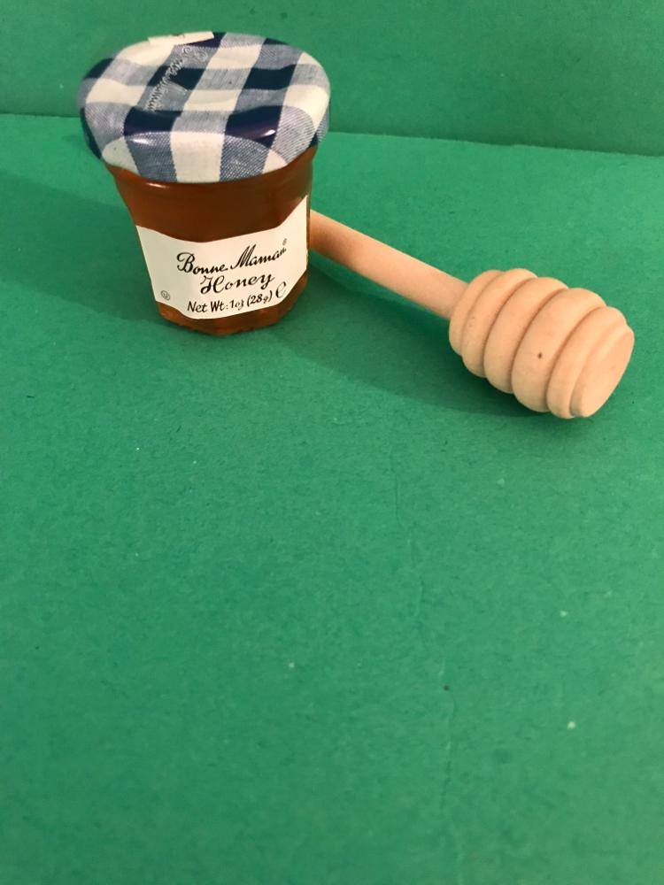 Mini Bonne Maman Honey Jar and Honey Dipper Wand