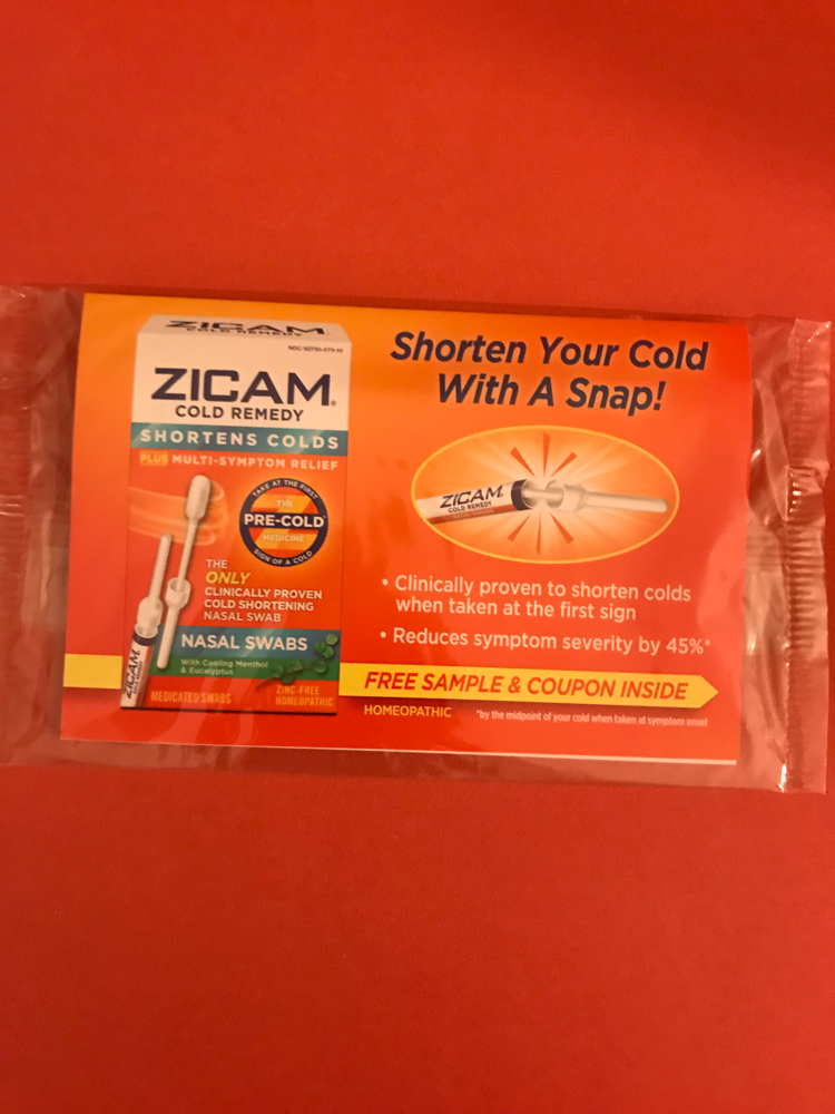 Zicam Cold Remedy Nasal Swabs