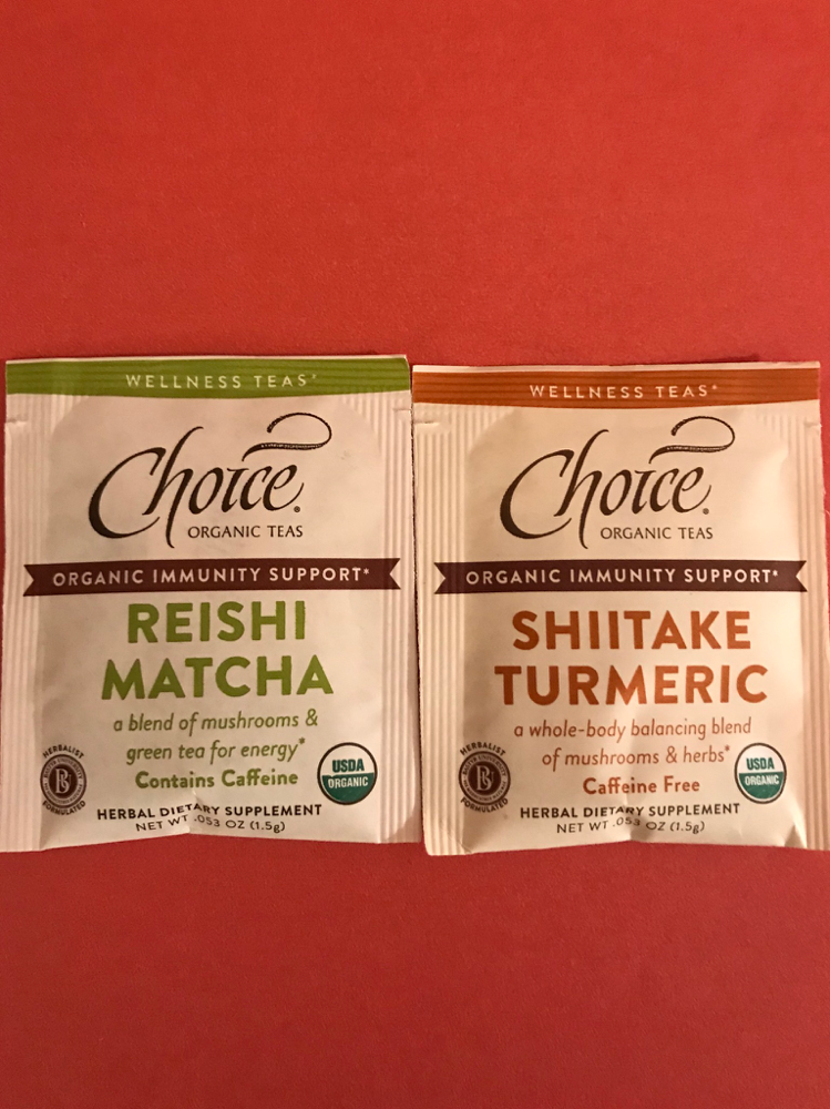 Choice organic teas- mushroom wellness teas