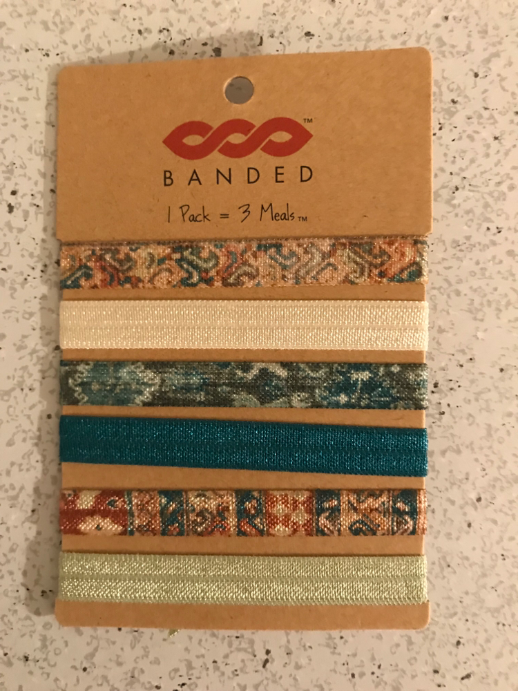 Banded Hair Ties In Jade Zanzibar