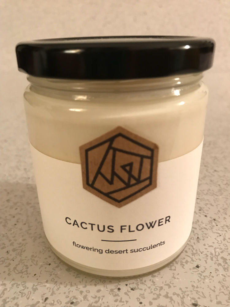 Vacant Wheel Cactus Flower Candle