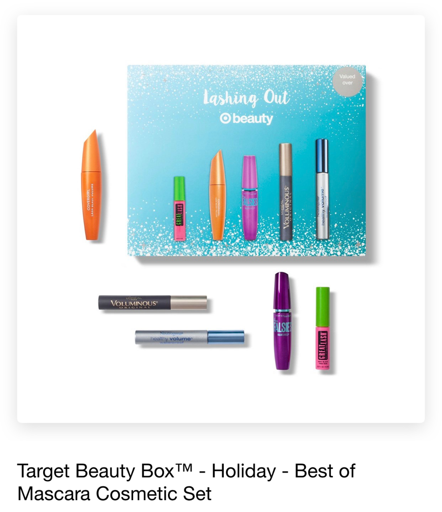 Target Beauty box holiday best of mascara cosmetic set