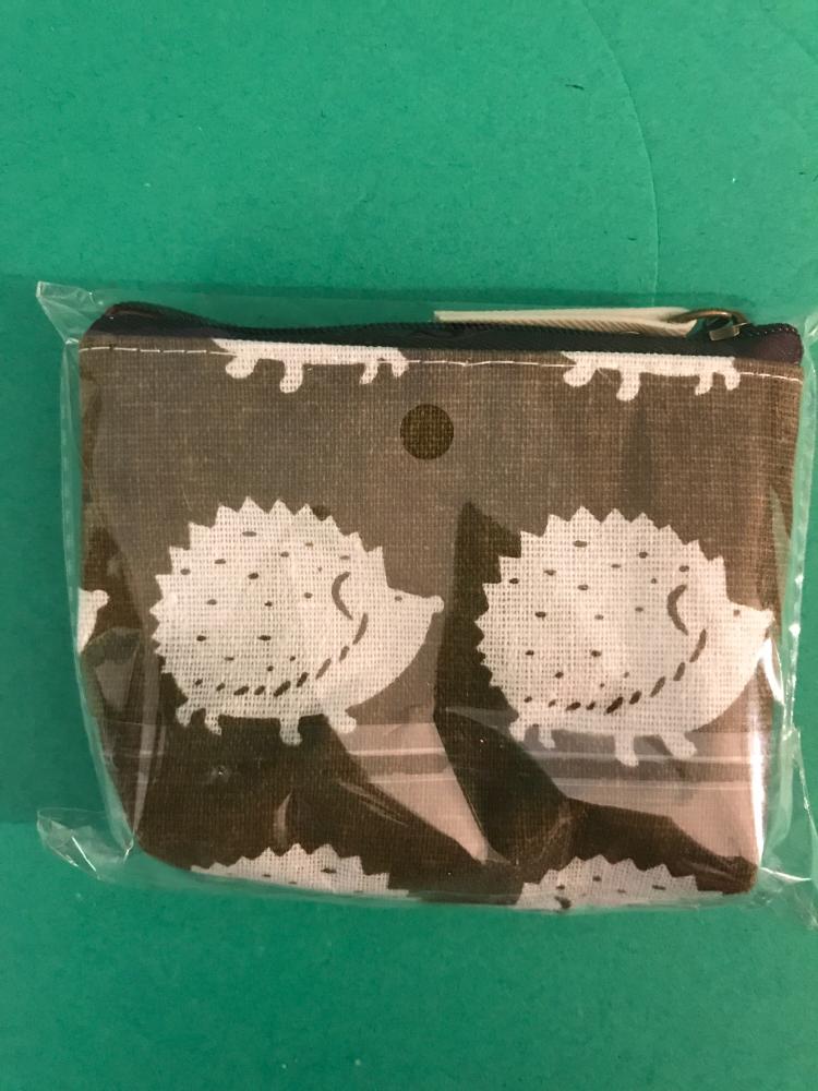 Sodial Cute Cartoon Animals Canvas Coin Purse Hedgehog