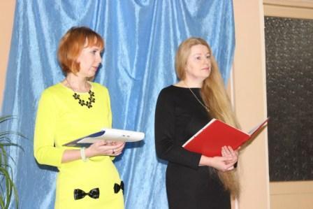 Жанна Углова (слева) и Татьяна Райченок (справа) - ведущие вечера