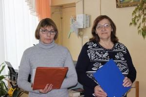 Вядучыя сустрэчы Раіса Гракава (злева), Паліна Чарняўская (зправа)