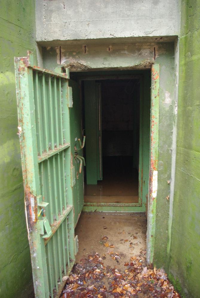 Diese Tür ist normalerweise verschlossen.
