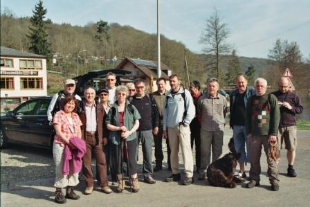 Wanderung 2013 nahe Hammelburg zum Adonisröschen (Fotos: Lothar Ruppel)