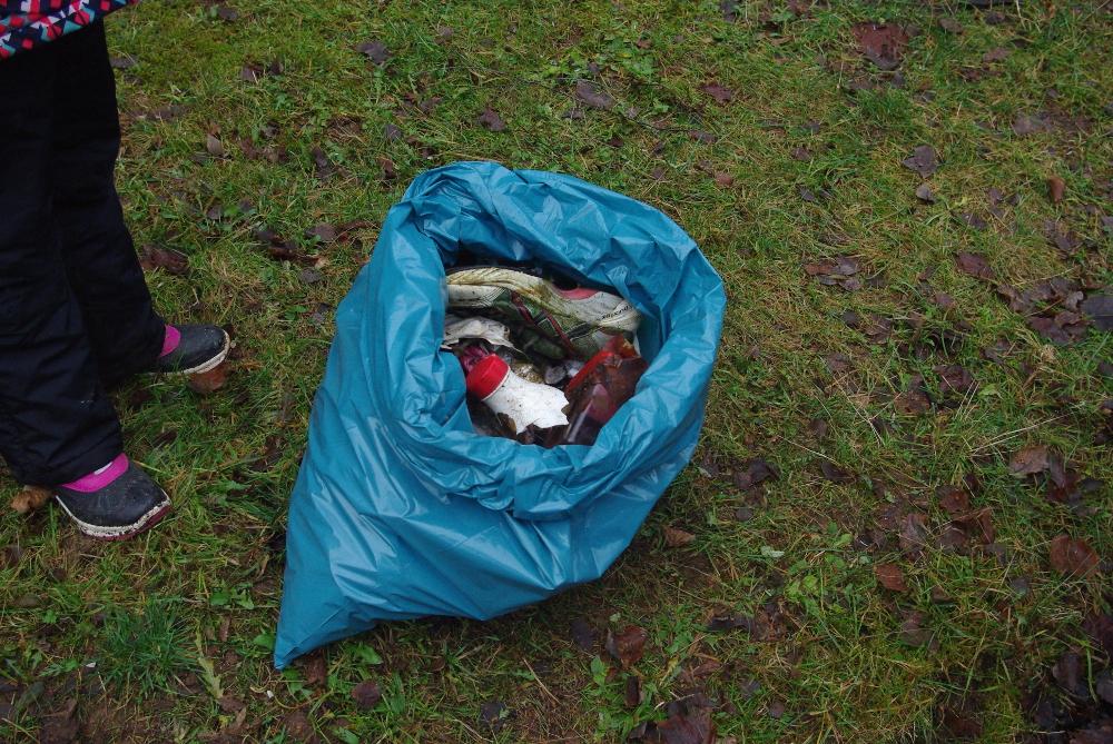Müll, den wir am Waldrand eingesammelt haben - Wer macht denn sowas?