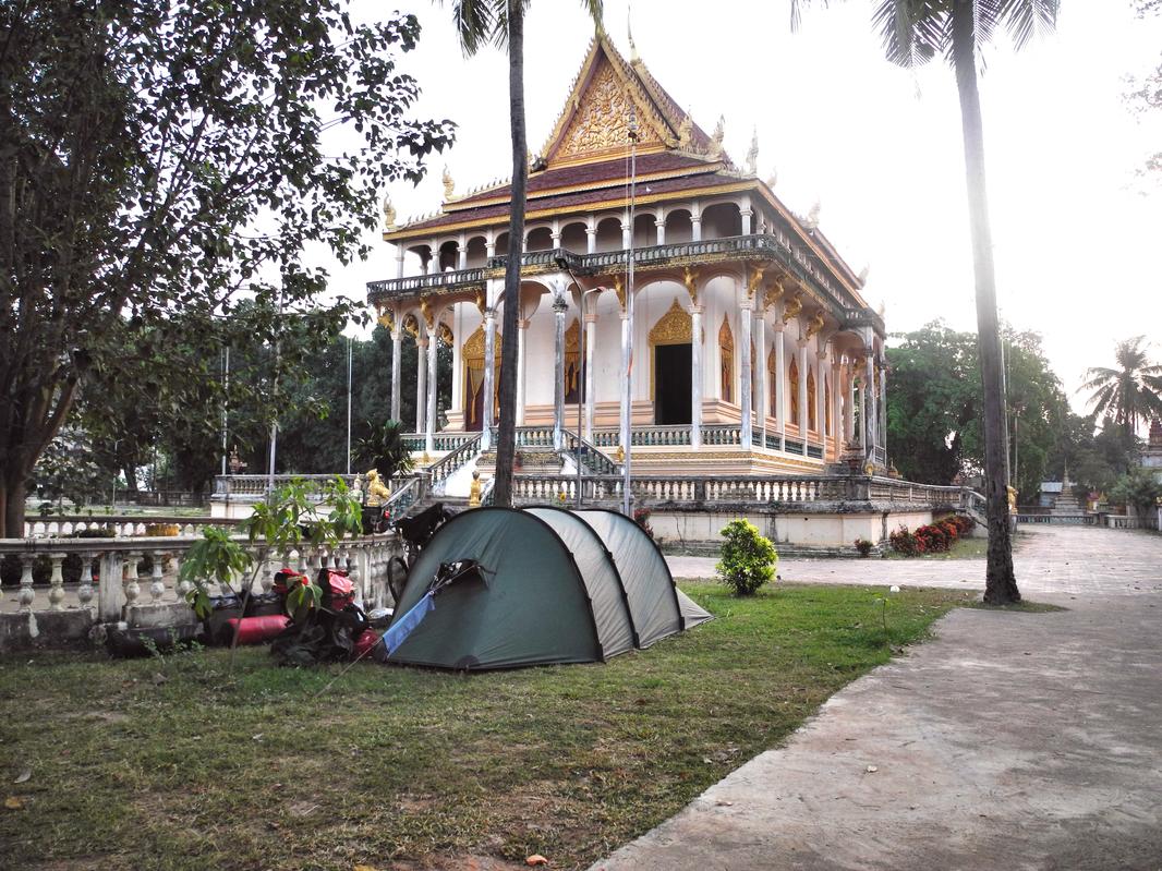 Oft campten wir in buddhistischen Klöstern